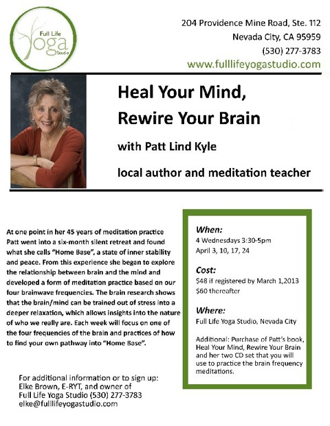 Flyer for April 2013 Workshop